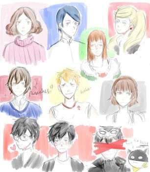 Persona 5 characters by Sanidrap