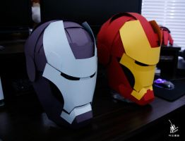 Ironman and Warmachine by Omaiyee
