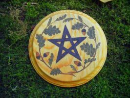 Oak Ogham Altar Pentacle by Lolair