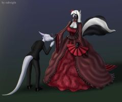 Mistress Twillight and Night the Dragon(finish) by ASKABANIUM