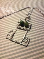 Robot Necklace! by WireMoonJewelry