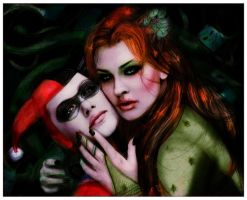 .Harley Quinn and Poison Ivy by IsaiahStephens