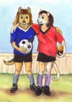 Soccer Buddies I by calzephyr
