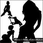 Vector Silhouette Brush Pack by LivanaStock