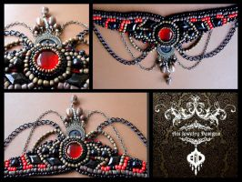 Gothic AJD choker by AniDandelion