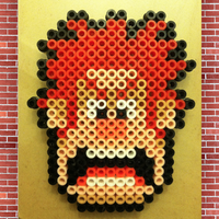 Wreck-It Ralph (Perler Beads) by SonicBoyAnt