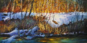 Flicker On Echo Creek by artistwilder