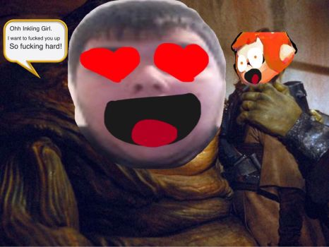 Toby the Monkey Jabba the Hutt  by ZombieLover93