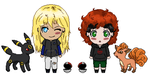 Poke Chibis Marc and Will by Tryxal