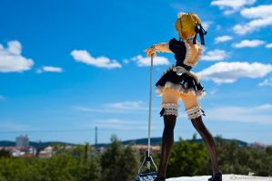 Saber maid town overlook by killer0178