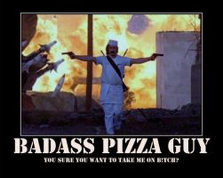 Badass Pizza Guy by spyash2