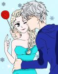 Elsa from Frozen and Jack Frost 2/3 (complete) by SenninArtistModo
