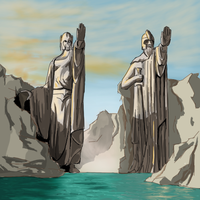 Statues of Numenor by TheMoub