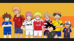 Soccer Jerseys ~ Anime Crossover by TheMuseumOfJeanette
