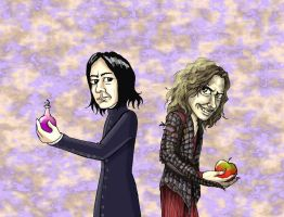 Snape and Gold by Nevuela