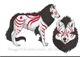 Wolf Adoptable By Natsumewolf by Treekami