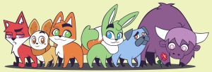 Cast of Foxy and Squeaky by Mockingbyrd