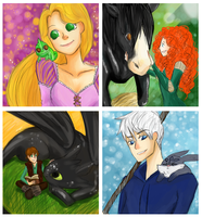 The Big 4 and their animal Companion!! by jollychee