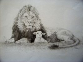 Lion and Lamb by MooseFactor