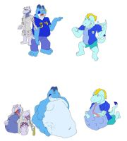 Ross' Characters by DragonHeart-Orange
