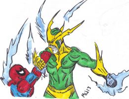 Electro vs spiderman by gonegonetheformofman