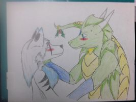 cought under the mistletoe by Dooma-wolfsvain