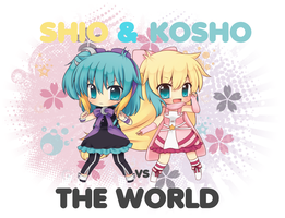 Shio n Kosho VS The World by threewiishes