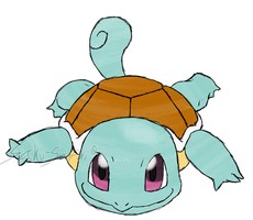 Draw'em All Challenge: 007 Squirtle by Saku-Senpai