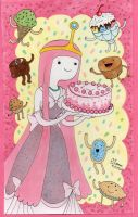 Princess Bubblegum's Cake by ArtsyVana