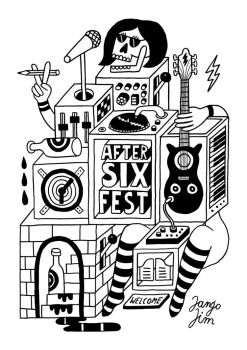 AFTER SIX FESTIVAL ( TOTE BAG DESIGN ) by laresistance