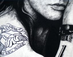 Axl Rose - charcoal sketch by GoldenYears