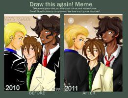 meme Before and After con Dai by Dai-Elric