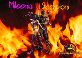 Mileena X Scorpion by IamSubZero