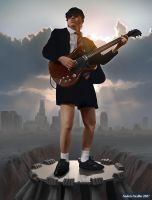 Angus Young by AndreeWallin