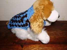 XS Blue brown dog sweater by Alicia1018