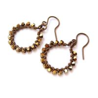 Bronze Crystal Loop Earrings by lulabug