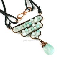 Copper and Amazonite Necklace by sylva