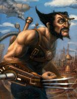 Steam-punk Wolverine by guang2222