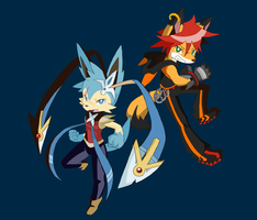 Mithril and Axel (totally not related) by ohgoshdarnthesecond