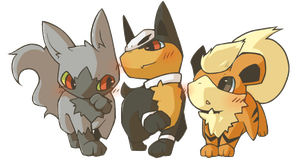 Poke Puppies by Treeckolovespie