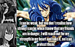 Juvia, Strength by Xela-scarlet