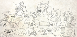 A feast of charrs by CunningFox