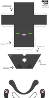 Spike cat paper craft by armadilloboy