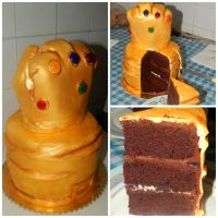 Thanos' Infinity Gauntlet CAKE collage by Diotima96