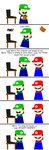 Luigi's First E-mail by soryukey