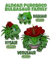 Bulbasaur Family by ajkent14z