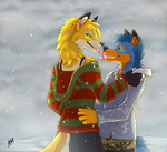 candy cane kisses by VengefulSpirits