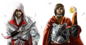 Ezio and Cesare by Akuya-Kyuubi