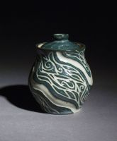 sgraffito jar by elf2tiny