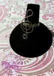 Music Note Ring by WireMoonJewelry